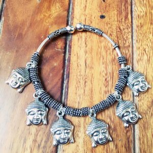 Adjustable German Silver Bracelets With Charms Buddha