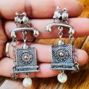 German Silver Messenger Earrings