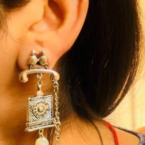 German Silver Messenger Earrings